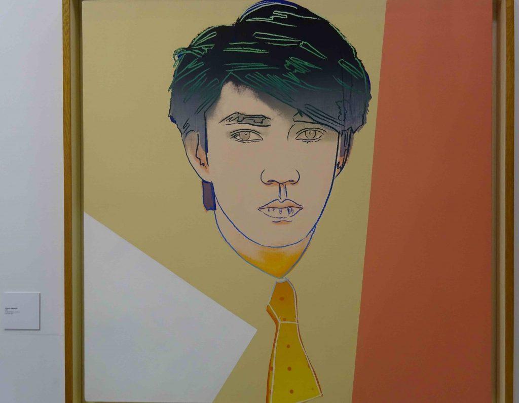 """アンディ・ウォーホル Andy Warhol """"Ryuichi Sakamoto"""" acrylic, silkscreen on canvas, 1983, 101.6 x 101.6 cm @ GALLERY TARGET"""