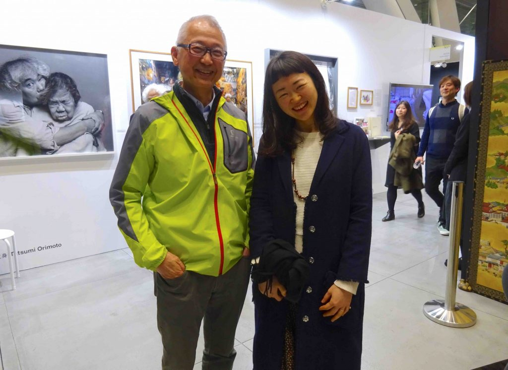 Art patron and collector NAKAO Koji 中尾浩治 and my wife