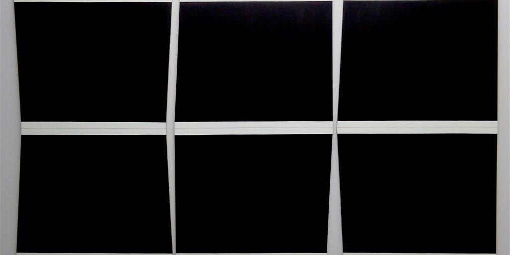 "五月女 哲平 SOUTOME Teppei ""White, Black, Colors"" 2015, Acrylic on canvas, 362 x 201 cm"