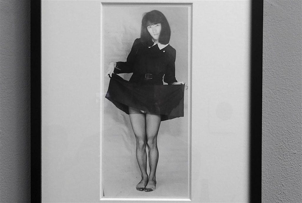 会田誠 AIDA Makoto 「潮風の少女」1989, b&w print, drawing on back, unique, 11 x 24.5 cm