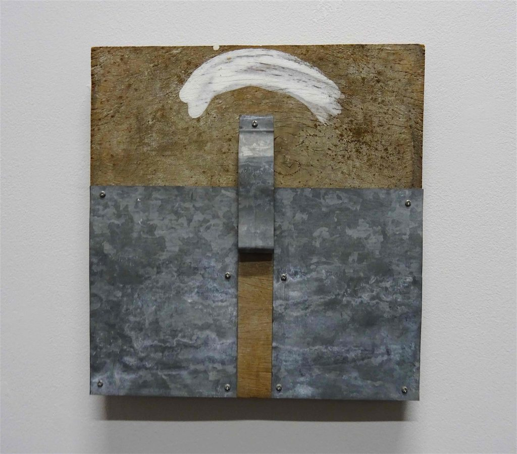 菅 木志雄 SUGA Kishio 「測位」1990, wood, metal, paint, 31 x 30 cm