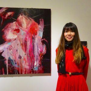 クリムゾン色の暗闇、日本の傑出した画家松下まり子:「RAW」個展 @ KEN NAKAHASHI