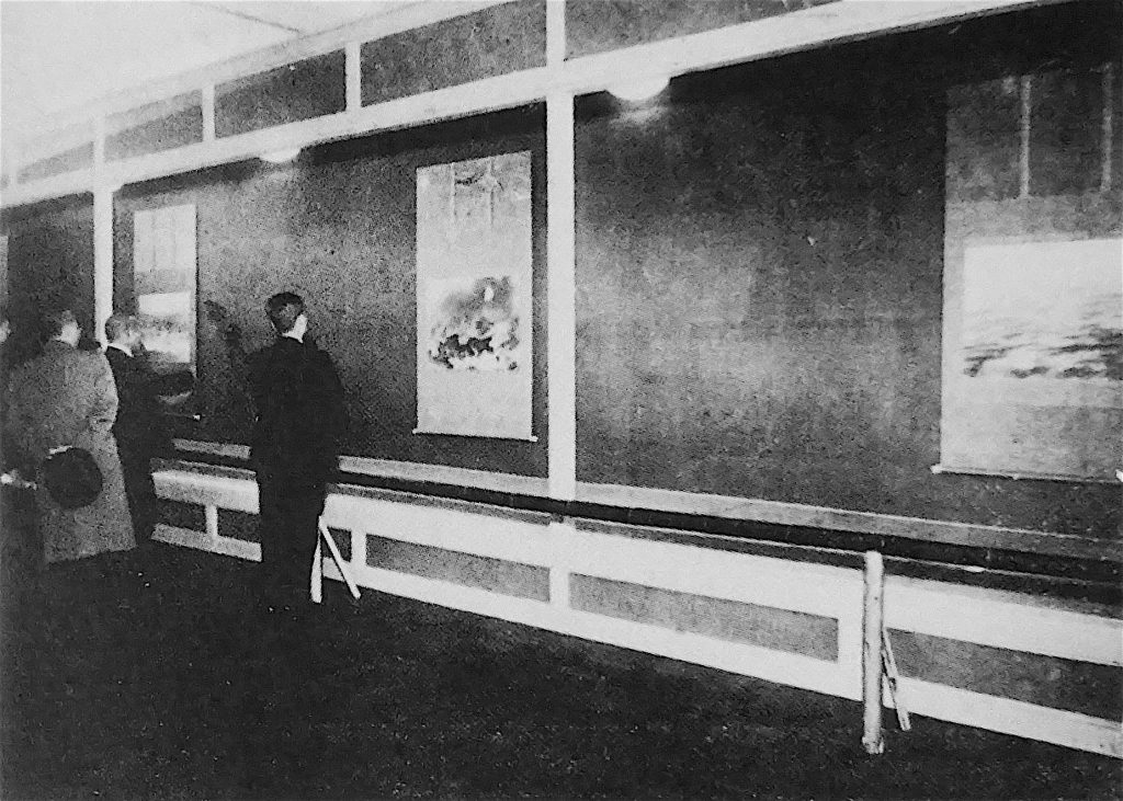 横山大観の「海山十題」を展示した日本橋三越の会場、1940年 (aka 皇紀2600年、昭和15年)