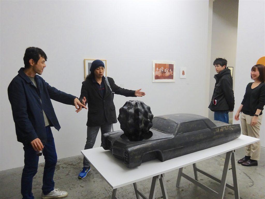 眞島竜男 MAJIMA Tatsuo 「Cactus engine」1998, FRP, 51 x 150 x 54 cm
