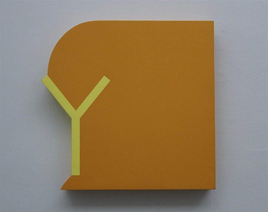 荻野僚介 OGINO Ryosuke 「Y」1998, acrylic, wooden panel, 49 x 50.5 cm