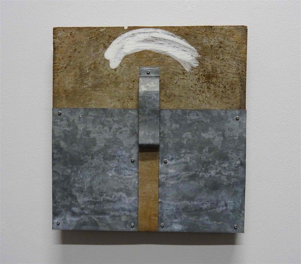 菅 木志雄 SUGA Kishio 「測位」1990, wood, metal, paint, 31 x 30 cm