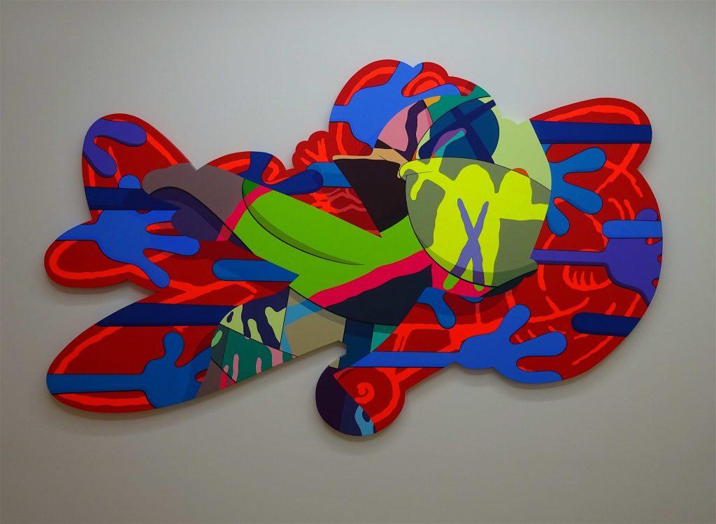 KAWS 「RESPONSE ABILITY」2018, acrylic on canvas, 176.6 x 274.4 x 4.4 cm
