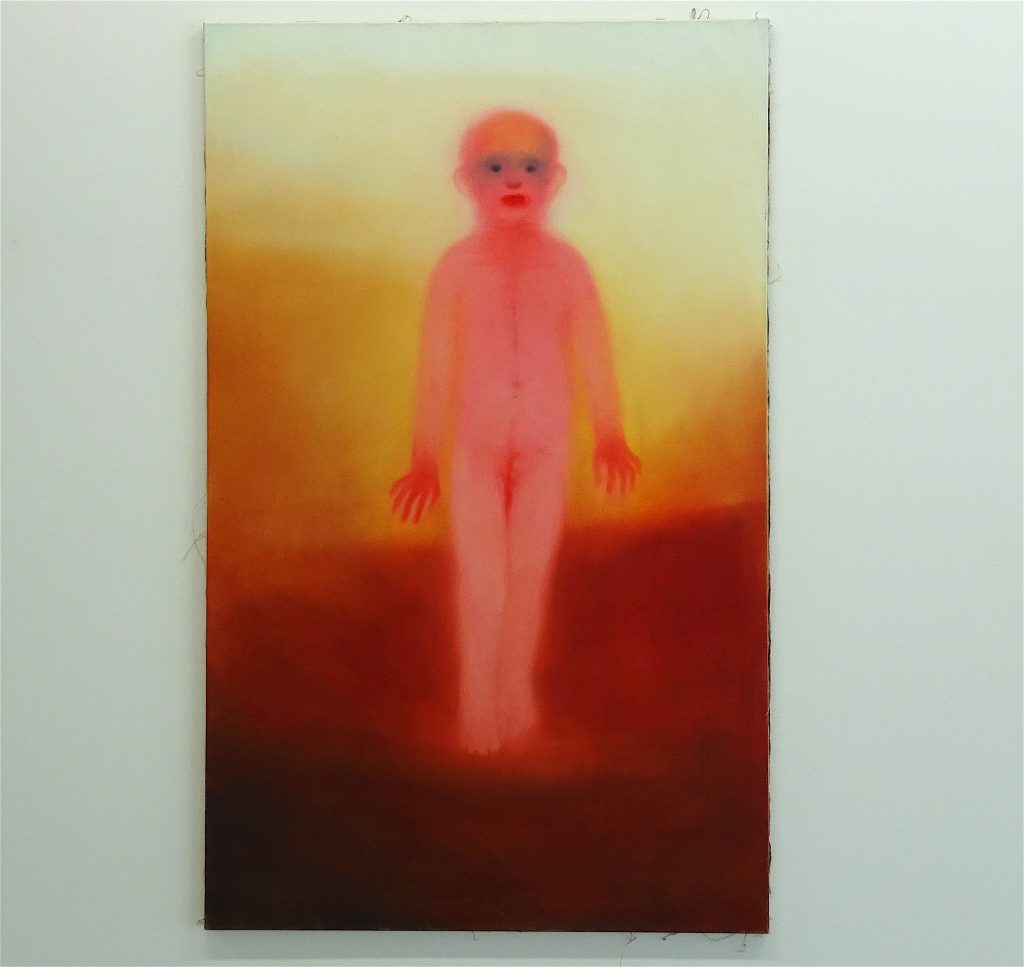 Miriam Cahn ミリアム・カーン「ちいさな子」(kindchen) oil on canvas、1998 @ WAKO WORKS OF ART 2017年