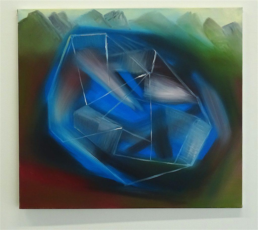 Miriam Cahn ミリアム・カーン「ブレイン・ハウス (夢で見た)」(hirnhaus (geträumt)) oil on canvas、22.11.2004 @ WAKO WORKS OF ART 2017年
