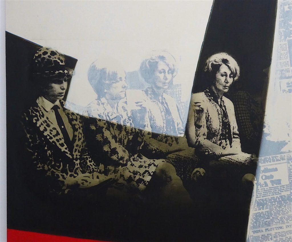 MISHIMA Kimiyo 三島喜美代, 題名不詳 (title unknown), ca. 1972, 162 x 130 cm, oil, silkscreen on canvas, detail