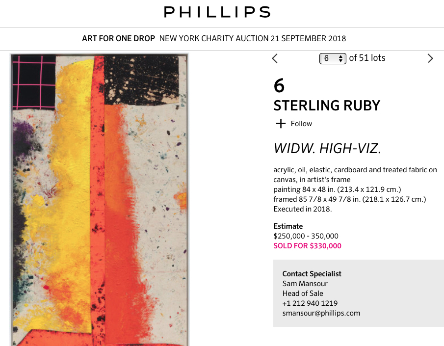 Sterling Ruby @ Phillips Auction