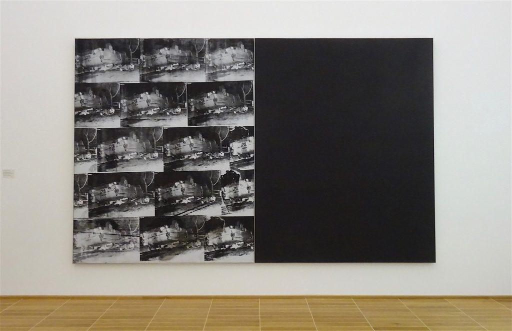 アンディ・ウォーホル Andy Warhol 「Black and White Disaster #4 (5 Deaths 17 Times in Black and White)」1963, Acryl, Siebdruckfarbe und Bleistift auf Leinwand