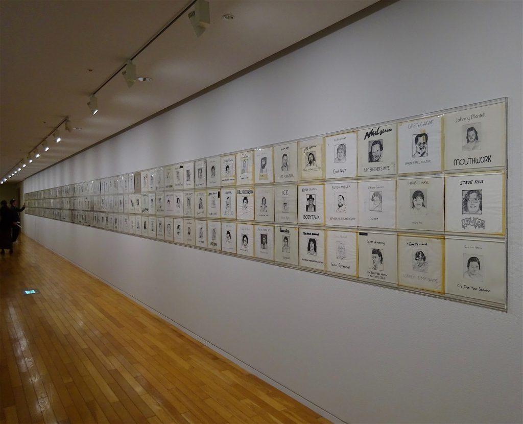 五木田智央 GOKITA Tomoo 'Gokita Records' 2002 – 2018, mixed media, 31.3 x 31.5 cm each