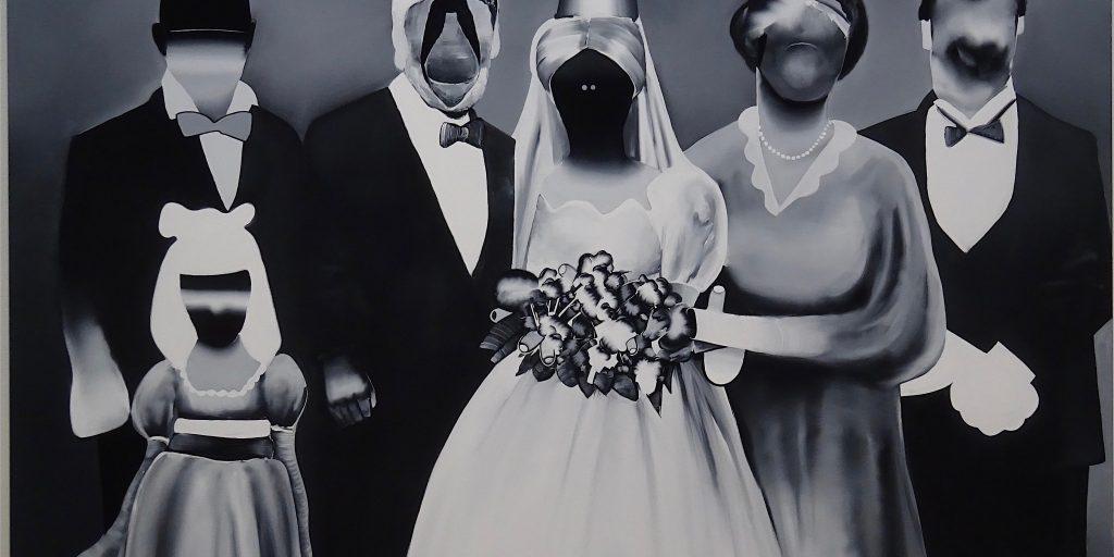 五木田智央 GOKITA Tomoo 'How to Marry a Millionaire' 2015, acrylic gouache on canvas (Collection of KAWS)