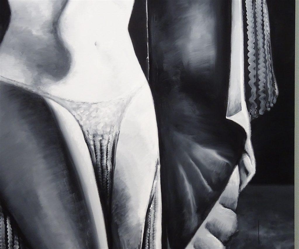 五木田智央 GOKITA Tomoo 'Come Play with Me' 2018, acrylic gouache on canvas, 259 x 194 cm, detail