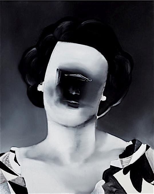 五木田智央 GOKITA Tomoo 'Old Portrait' 2016, acrylic gouache on canvas, 227.3 x 181.8 cm (MAEZAWA Yusaku Collection)