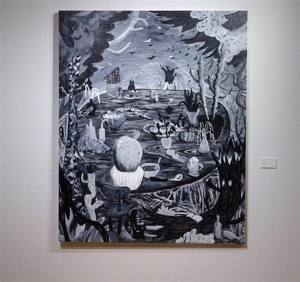 平子雄一 HIRAKO Yuichi 'Leftover 3' 2018, acrylic on canvas, 162 x 130 cm