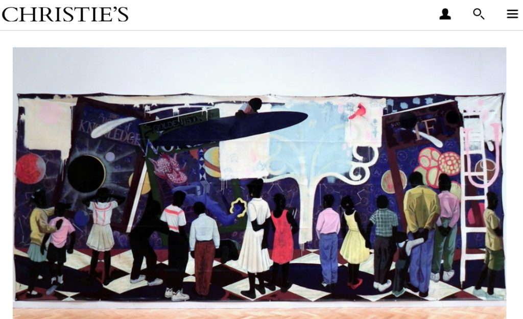 Kerry James Marshall, Knowledge and Wonder, executed in 1995