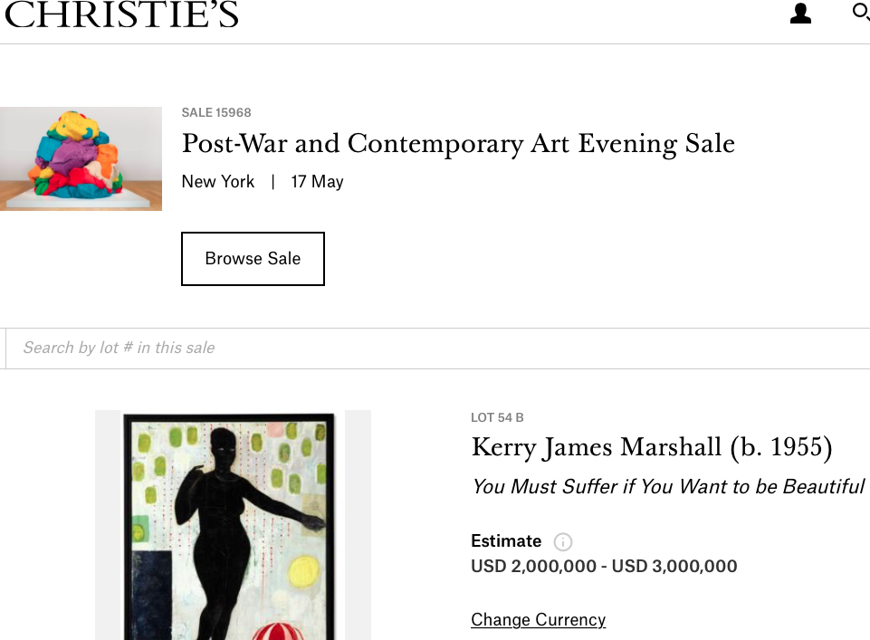 Kerry James Marshall Auction オークション