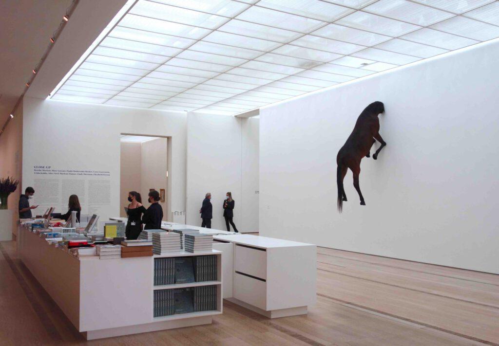 "Maurizio Cattelan ""Untitled"" 2007, Präpariertes Pferd (The animal was not hurt.) @ Beyeler Fondation 2021"