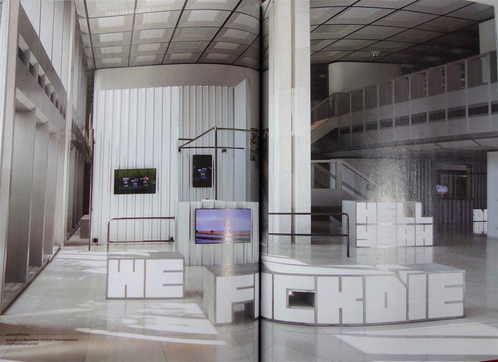 """ヒト・シュタイエル Hito Steyerl """"HellYeahWeFuckDie"""" @ Skulptur Projekte Münster 2017, Monopol Magazin"""