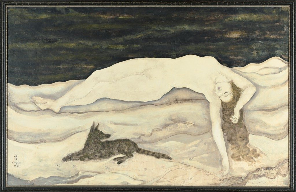 "レオナール・ツグハル・フジタ Léonard-Tsuguharu Foujita ""Déesse de la neige"" 1924, oil on masonite (Harvard Art Museums : Fogg Museum, Cambridge, MA, USA)"
