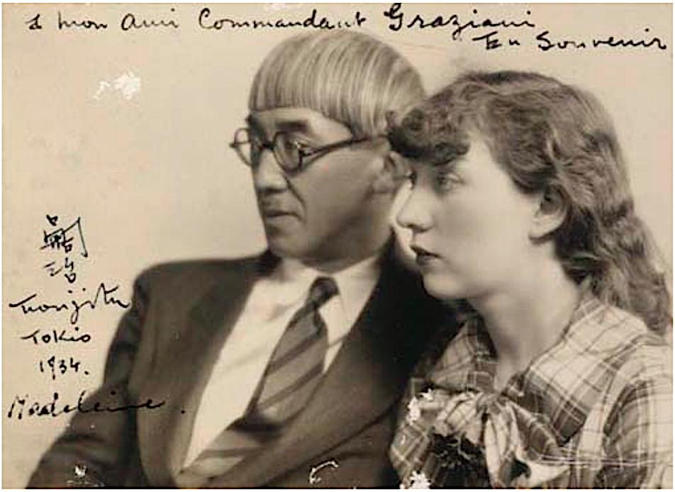 藤田嗣治とマドレーヌ、東京1934年