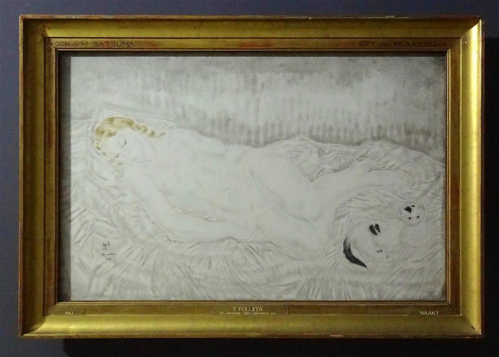 """藤田嗣治-Léonard Foujita """"Nu"""" 1927 Musées royaux des beaux-arts de Belgique"""