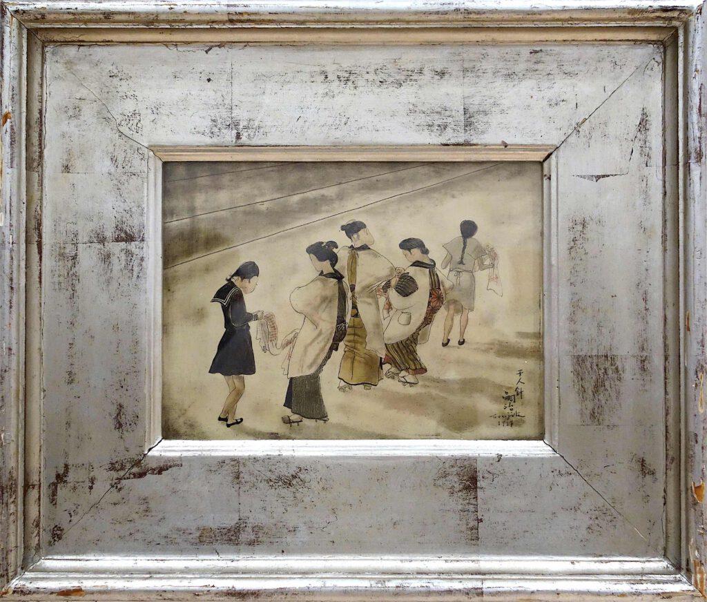 藤田嗣治 Léonard Foujita・レオナール・フジタ「千人針」(Senninbari, Soldier's good-luck belt with a thousand stitches embroidered by a thousand different women) 1937, oil on canvas