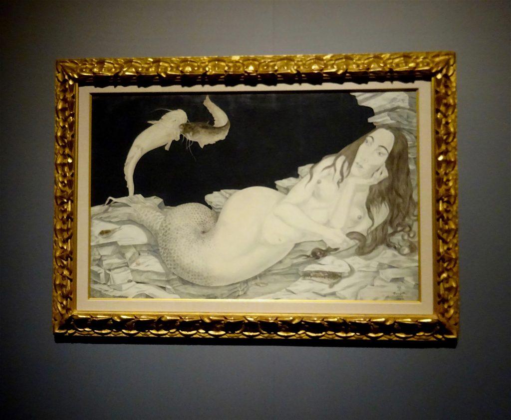 藤田君代の肖像画 「人魚」Mermaid 1940