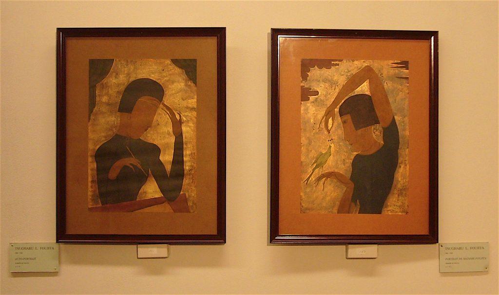 """藤田嗣治作 Tsuguharu Foujita """"Mon Portrait"""" 1917, """"Portrait de Madame Foujita"""" 1917"""