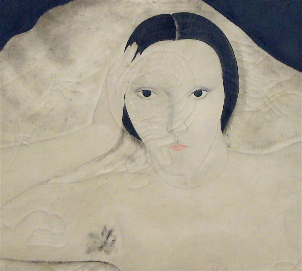 藤田嗣治-Léonard Foujita- Nu à la toile de jouy 1922 キキ Kiki