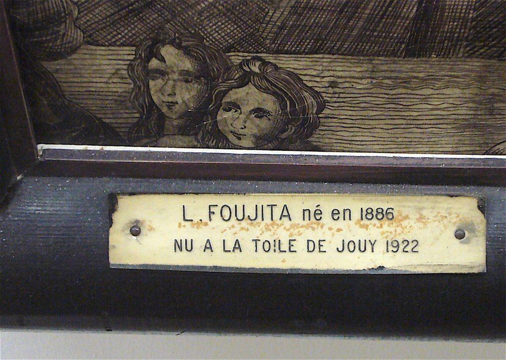 藤田嗣治-Léonard Foujita- Nu à la toile de jouy 1922 Paris, plate
