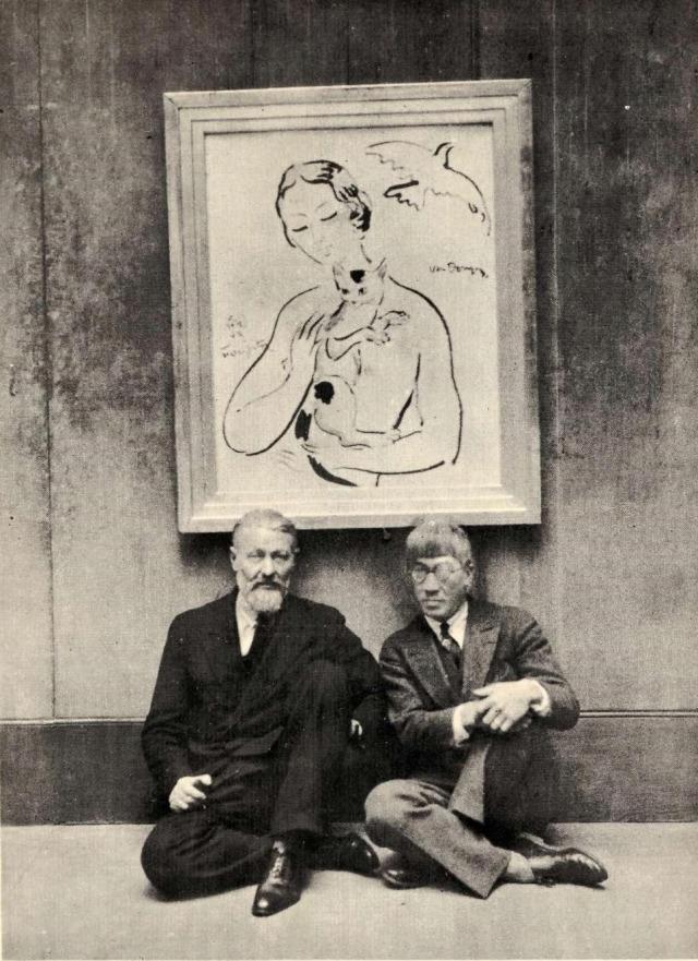Kees van Dongen + Tsuguharu Foujita La Femme au chat (Collaboration) Bal des Petits Lits Blancs à L'Opéra Garnier, 1929