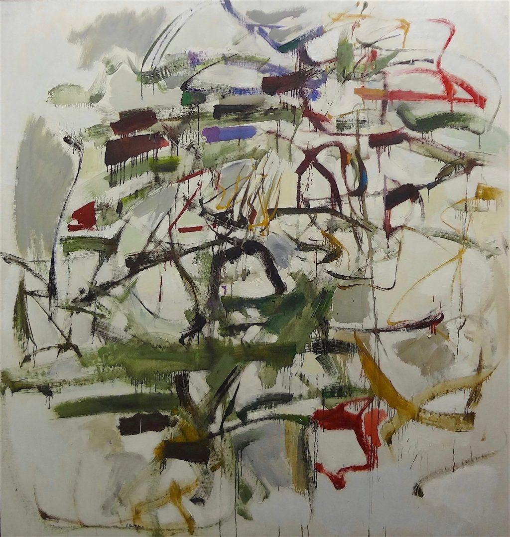 """ジョアン・ミッチェル Joan Mitchell """"Composition"""" 1961, Oil on canvas, 202 x 192 x 5.1 cm (Hauser & Wirth, 2013)"""