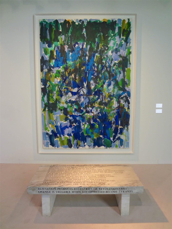 """ジョアン・ミッチェル Joan Mitchell """"Untitled"""" 1977, Oil on canvas, 260.4 x 180.3 cm (Cheim & Read, 2015)"""