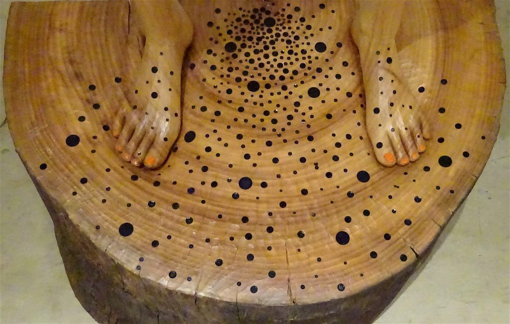 "棚田康司 TANADA Koji 「黒の像」 ""statue of darkness"" 2017, detail"