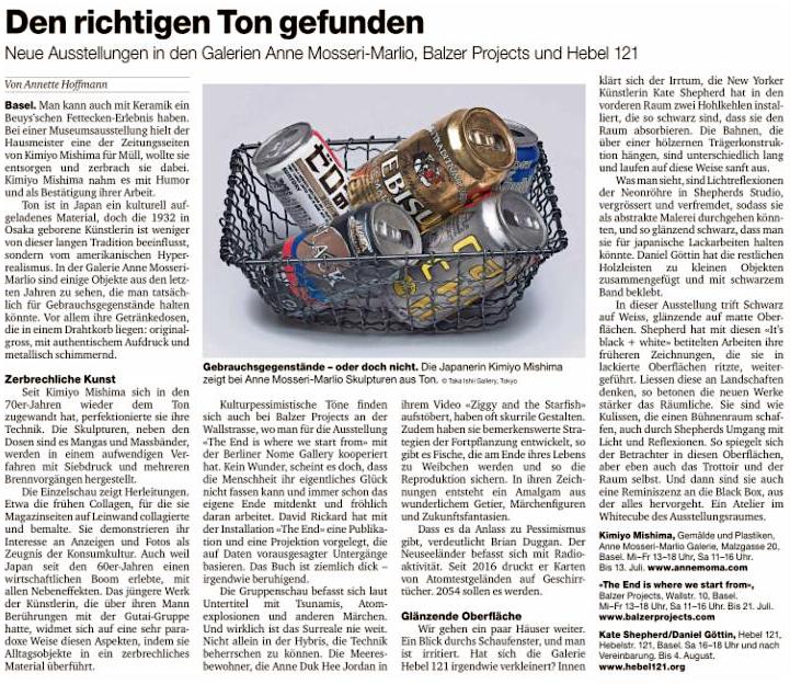 Basler Zeitung_Kultur 2018:7