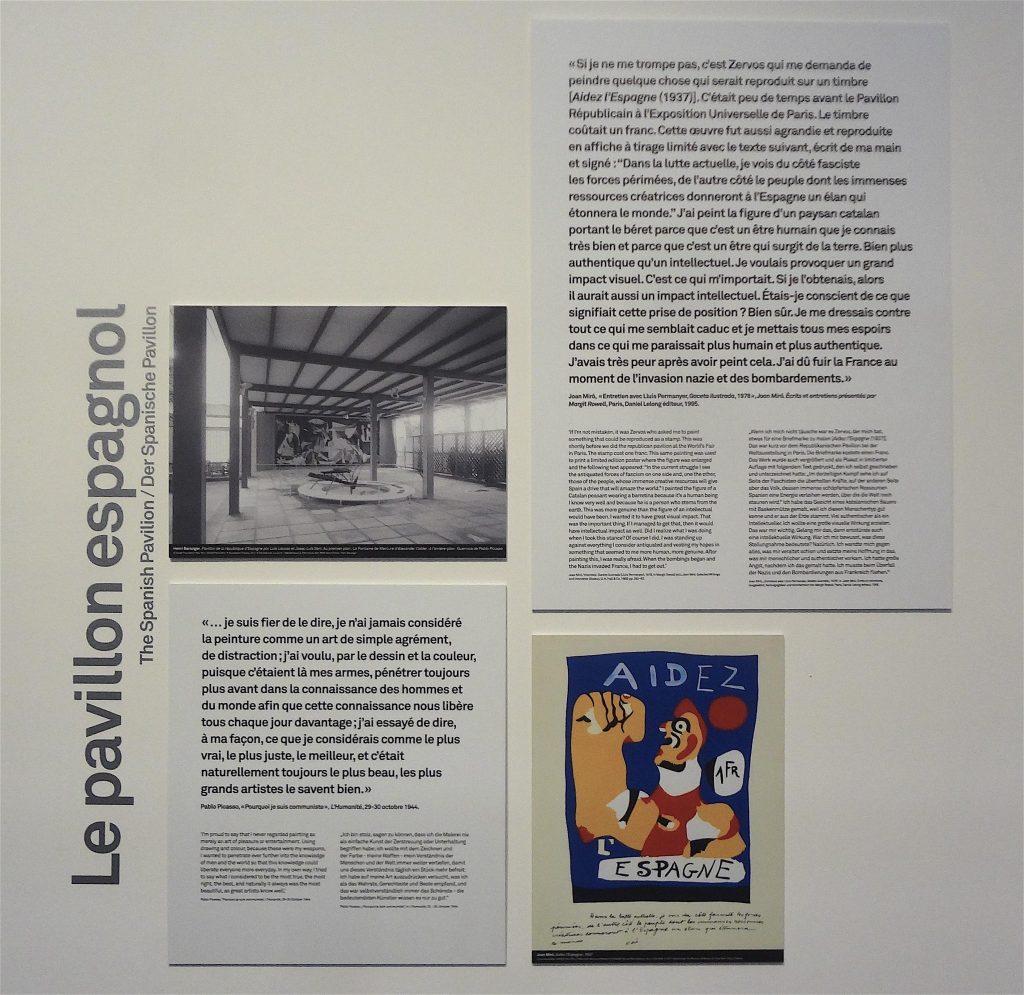Board of explanation about the Spanish Pavillon @ Exposition Internationale des Arts et Techniques, Paris 1937