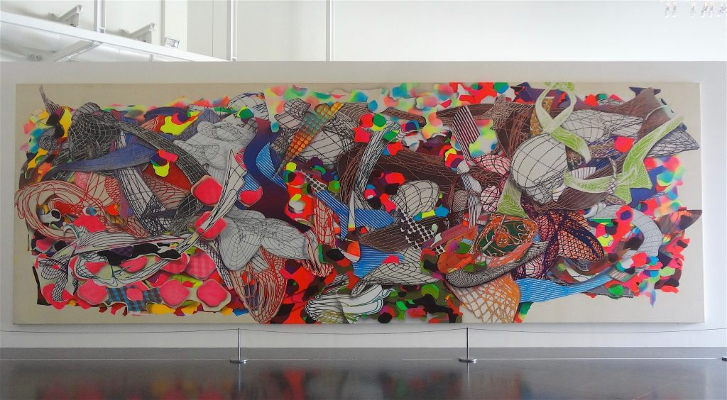 "Frank Stella ""Polombe"" 1994, Acryl on canvas, Centre Pompidou, Musée national d'art moderne, Paris"
