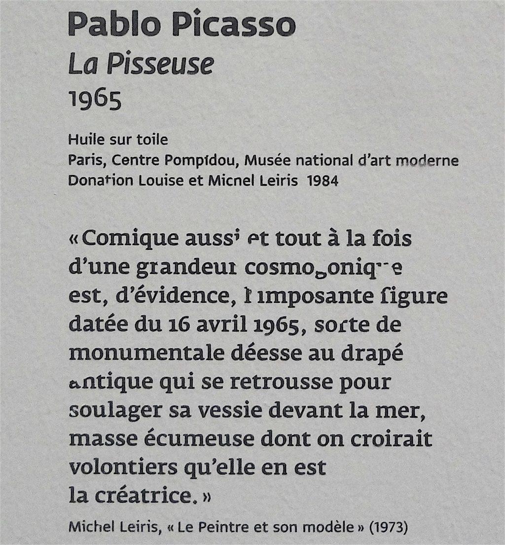 "Pablo Picasso ""La Pisseuse""(おしっこをする女)1965, explanation"