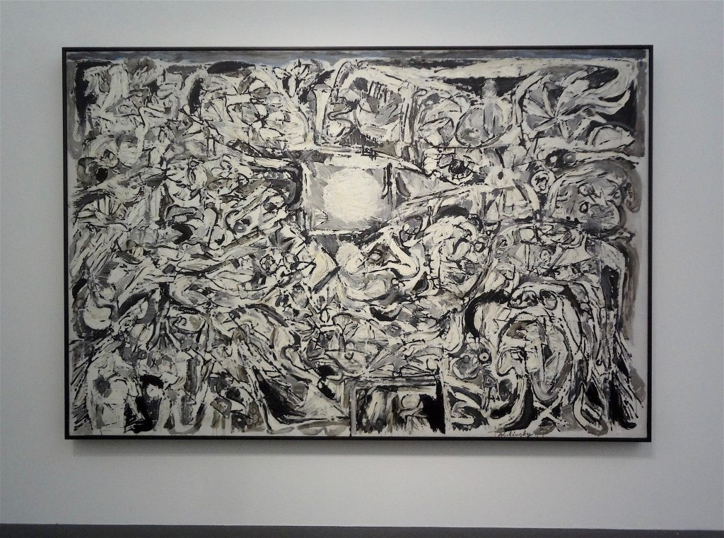 "Pierre Alechinsky ""Le Monde perdu"" 1959, Oil on canvas, Centre Pompidou, Musée national d'art moderne, Paris"
