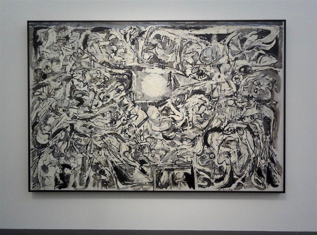 """Pierre Alechinsky """"Le Monde perdu"""" 1959, Oil on canvas, Centre Pompidou, Musée national d'art moderne, Paris"""