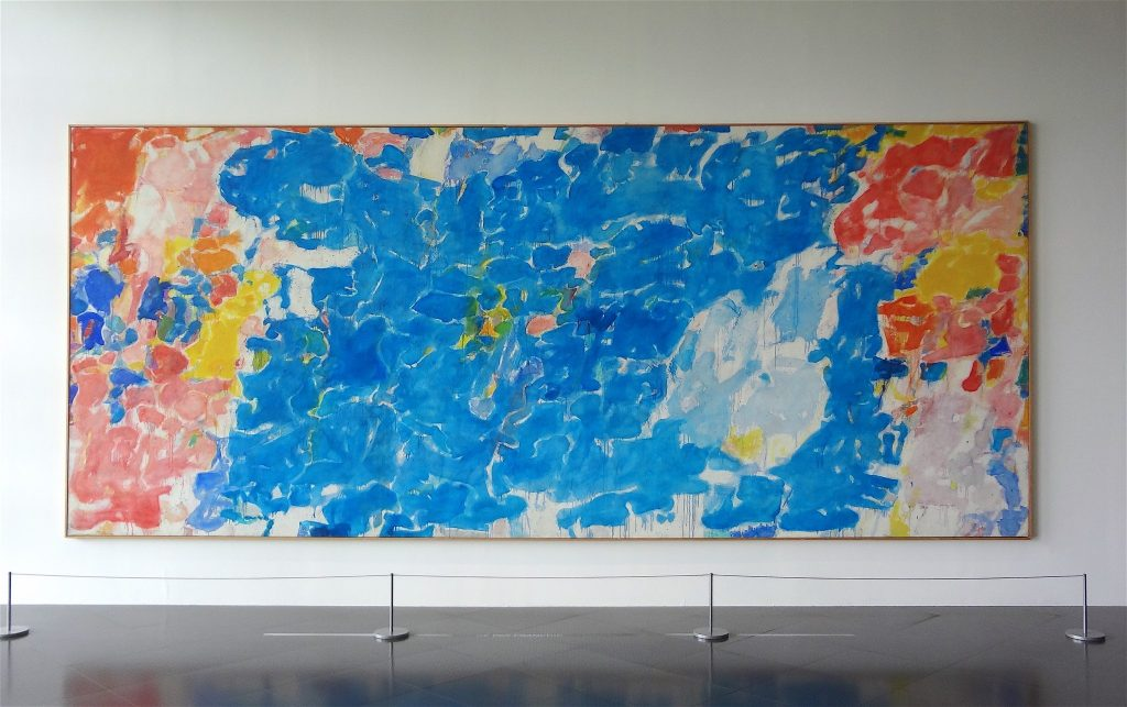 "Sam Francis ""In Lovely Blueness (No.1)"" 1955-57, Oil on canvas, Centre Pompidou, Musée national d'art moderne, Paris"