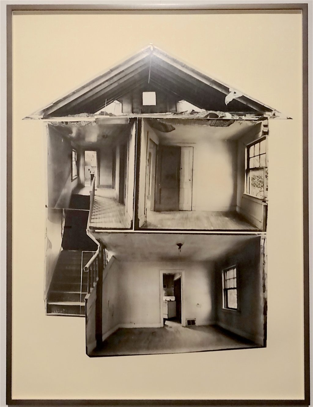 "ゴードン・マッタ・クラーク Gordon Matta-Clark ""Day's End"" 1974, 5 gelatin silver prints, collaged, Courtesy The Estate of Gordon Matta-Clark and David Zwirner, New York / London / Hongkong"