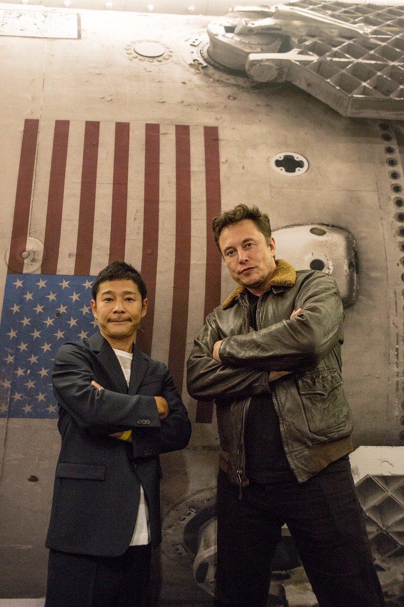 前澤友作 MAEZAWA Yusaku Elon Musk TESLA