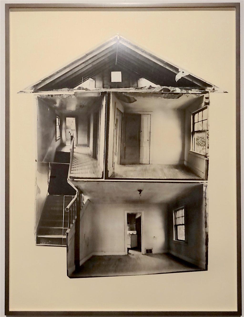 """ゴードン・マッタ・クラーク Gordon Matta-Clark """"Day's End"""" 1974, 5 gelatin silver prints, collaged, Courtesy The Estate of Gordon Matta-Clark and David Zwirner, New York / London / Hongkong"""