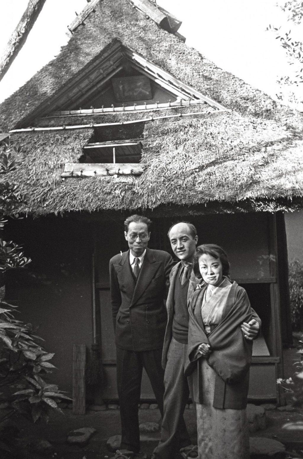 1952 in Kyoto with Hasegawa Saburo