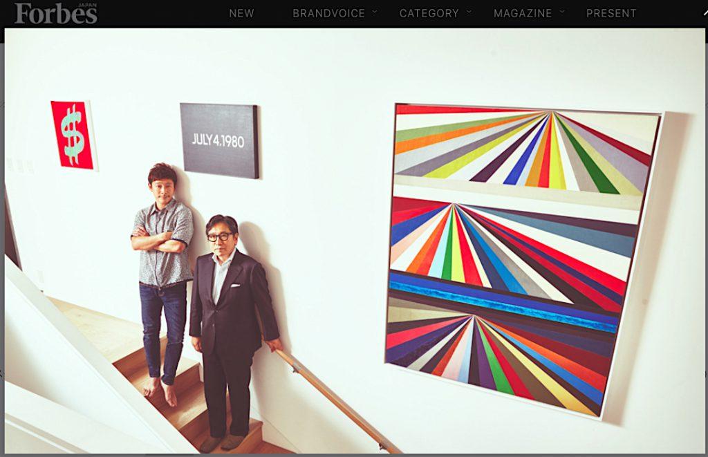 サザビーズジャパン社長の石坂泰章とZOZOTOWN運営会社代表の前澤友作 Sotheby's Japan chairman & director ISHIZAKA Yasuaki with ZOZOTOWN's CEO MAEZAWA Yusaku