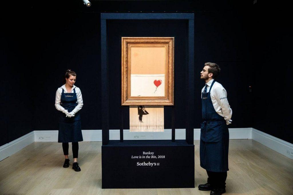 """バンクシー 「愛はごみ箱の中に」aka「少女と風船」 Banksy """"Love Is in the Bin"""" aka """"Girl with Balloon"""""""